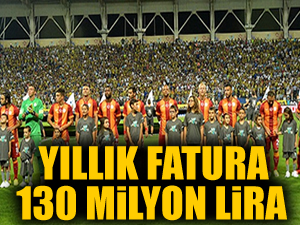 Yıllık fatura 130 milyon lira