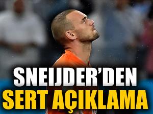 """Sneıjder'den sert açıklama: """"Herkes aynaya bakmalı, bu utanç verici"""""""