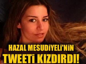 Hazal Mesudiyeli'nin asansör tweet'i kızdırdı