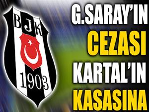 Galatasaray'ın cezası Beşiktaş'ın kasasına!