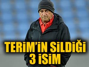 Fatih Terim'in kafasından sildiği 3 isim!