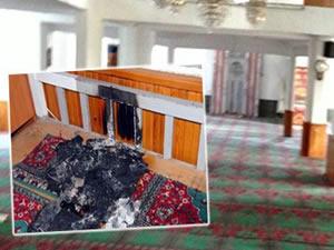 Aynı camiyi 5 kez ateşe verdi