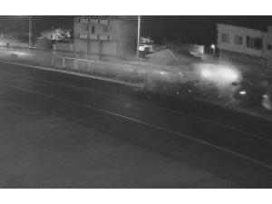 5 kişinin yaralandığı kaza güvenlik kamerasında