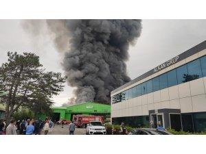 İstanbul'un Şile ilçesinde bir iş yerinde yangın çıktı. Olay yerine çok sayıda itfaiye ekibi sevk edildi.