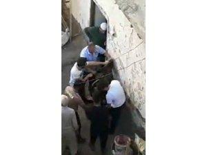 Çarşaflı erkek hırsız damda uyuyakalınca yakayı ele verdi