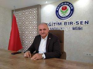 """Eğitim Bir Sen Antalya Şube Başkanı Miran: """"Uzaktan eğitimde ders ücretlerinde kesinti yapılmamalı"""""""