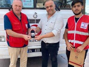 Ayvalık Kızılay'dan kan bağışçısı Ekinak'a gümüş madalya