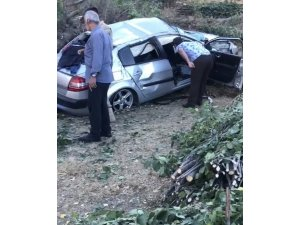 Tatvan'da kontrolden çıkan araç kaza yaptı : 2 yaralı