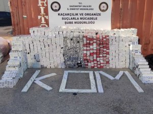 Gaziantep'te 33 bin paket kaçak sigara ele geçirildi