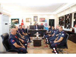 Başkan Aksun, itfaiyecileri ağırladı