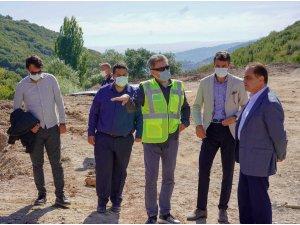 Başkan Şahin, kanalizasyon ve altyapı projesini yerinde inceledi