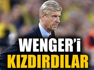 Arsene Wenger'i kızdırdılar!