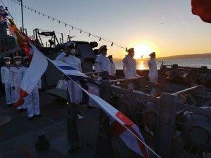 """MSB: """"Türkeli karakol gemimiz Lapseki'nin kurtuluşunun 99. yıl dönümünde Lapseki'ye liman ziyareti icra etti"""""""