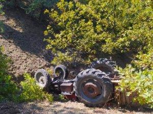 Ankara'da kontrolden çıkan traktör devrildi: 1 ölü