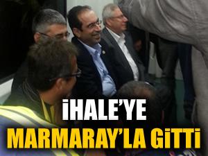 Aziz Yıldırım ihaleye Marmaray'la gitti