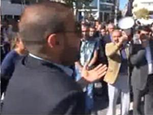 Tek başına protestocuların önüne dikildi: Ne Kürdistan'ı- İZLE