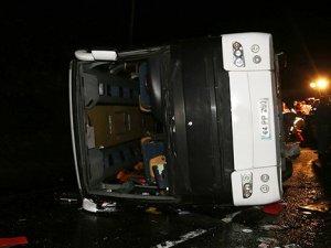 Erdoğan'ı koruyan polisler kaza yaptı: 3 şehit 33 yaralı