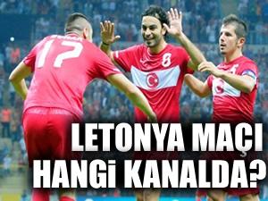 Letonya-Türkiye maçı 21.45'te Riga'da oynanacak