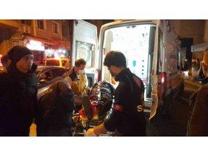 Kamyonet, motosiklet ile çarpıştı: 2 yaralı