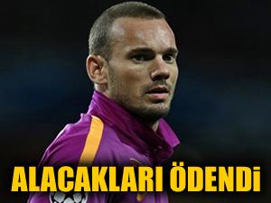 'Sneijder'in alacakları ödendi'