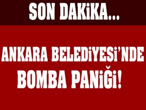 Ankara'da belediye binasında bomba paniği