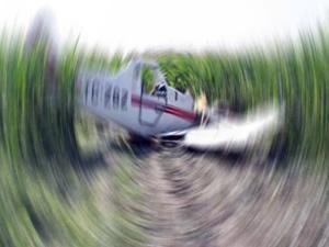 İlaçlama uçağı düştü