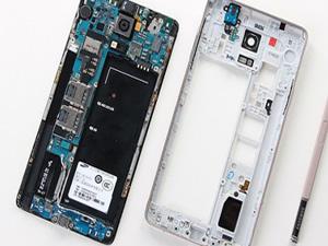 İşte Galaxy Note 4'ün içindeki parçalar!