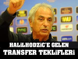 Vahid Halilhodzic telefonuna gelen transfer teklfilerini gösterdi