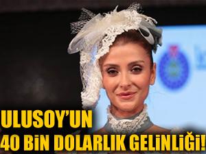 Özge Ulusoy'un 40 bin dolarlık gelinliği!