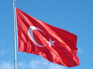 Türk bayrağını gönderden indirerek yaktılar!