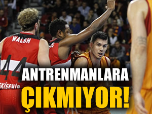 Galatasaraylı Zoran Erceg antrenmanlara çıkmıyor