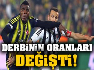 Beşiktaş-Fenerbahçe derbisinin oranları değişti