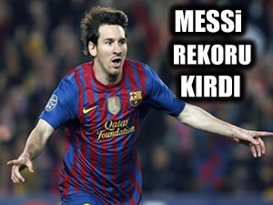 Messi rekoru kırdı