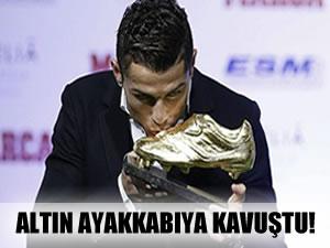 Altın ayakkabıya kavuştu