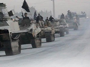 El Nusra'dan çok büyük askeri konvoy!