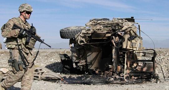 NATO konvoyuna saldırı