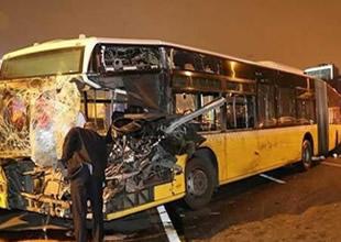 İstanbul Merter'de metrobüs kazası