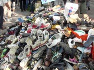 İmhaya götürülen 25 bin 'zehirli' ayakkabı kayboldu!