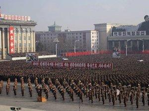 Kuzey Kore'de büyük protesto