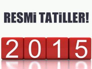 2015 yılbaşı resmi tatilleri