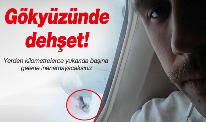 Uçağın camına çivi saplandı!