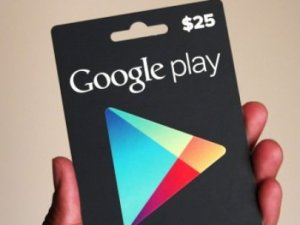 Google Play'in hediye kartları Türkiye'de