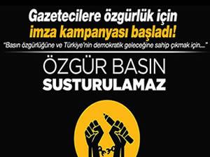 Gözaltındaki gazeteciler için imza kampanyası