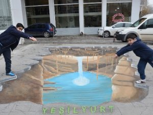 Üç boyutlu resimler artık Türkiye sokaklarında