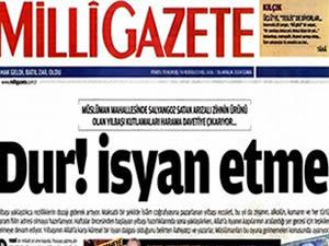 Milli Gazete'den yılbaşı tepkisi