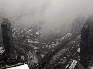 236 metreden İstanbul'un kar manzarası