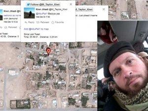 Twitter'da paylaşım yapan IŞİD militanı yanlışlıkla yerini işaretledi