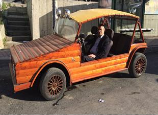 Erdoğan'ın çağrısına uydu ahşap otomobil yaptı