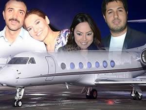 Rıza Sarraf yeni uçağıyla İtalya'ya uçtu