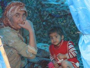 Eksi 3 derecede çadırda yaşam mücadelesi